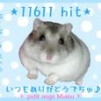 11611hit記念プレート
